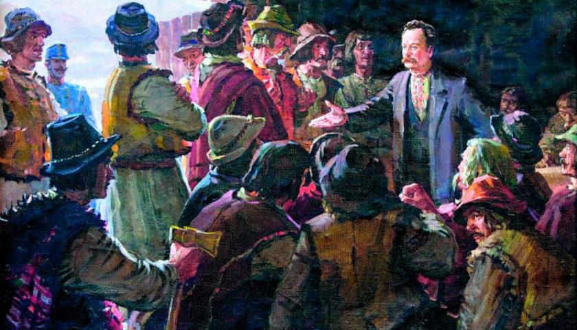 Іван Франко на селянському вічі. Картина Івана Гуторова, 1956 рік