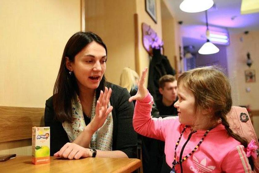 З донечкою Софійкою