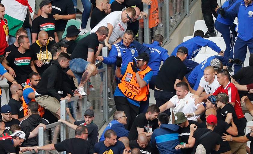 Бійка фанатів Ісландії й Угорщини