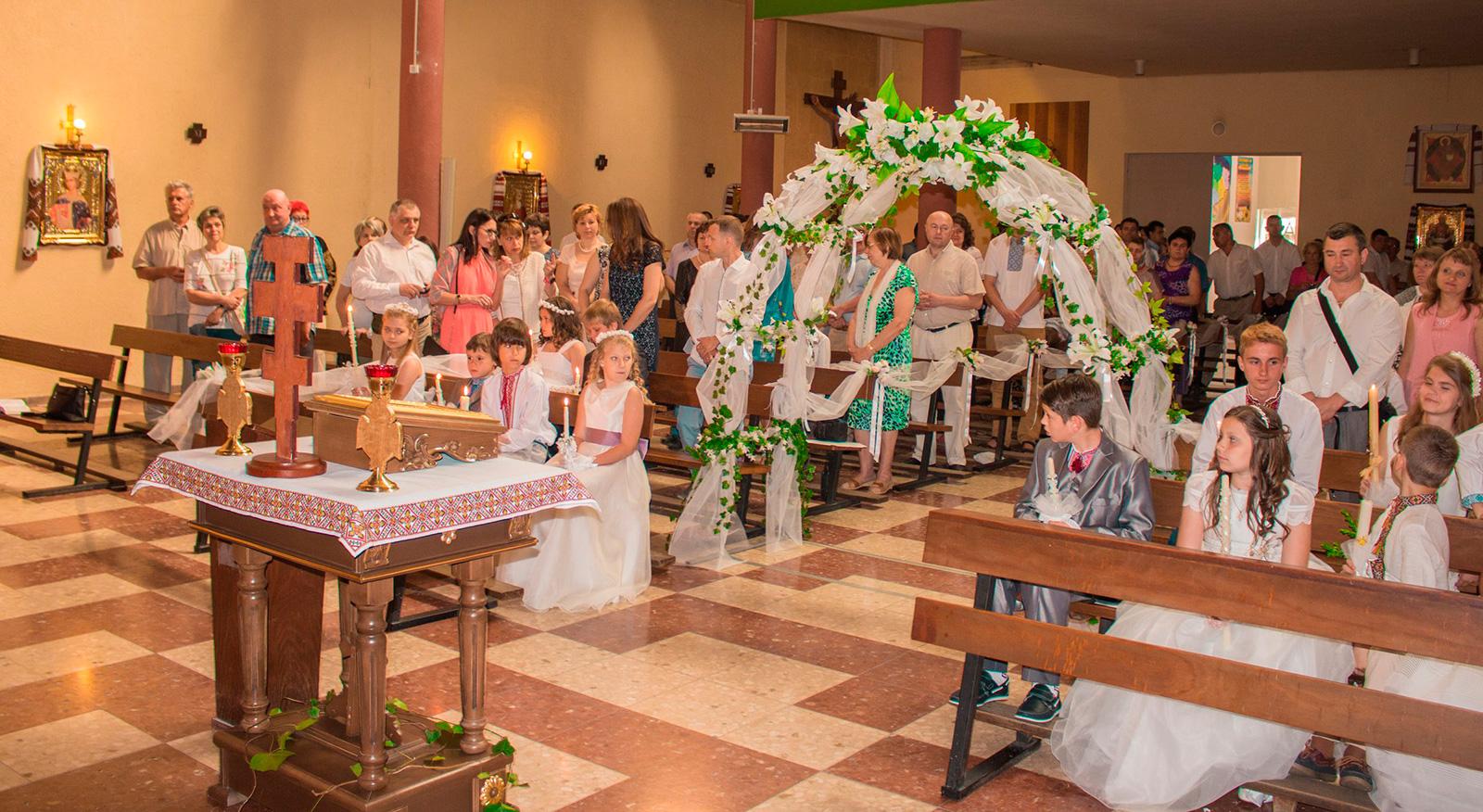 Свято Першого Причастя в церкві св. Моніки (УГКЦ)