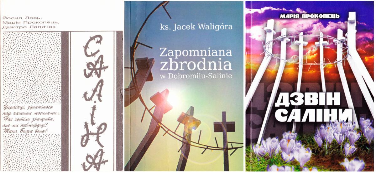 Обкладинки деяких книжок, присвячених трагедії Саліни