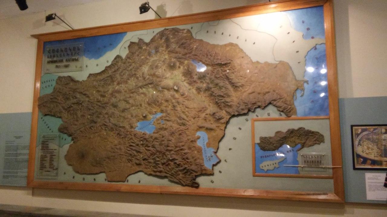 Карта Великої Вірменії (фото Юрія Мельника)