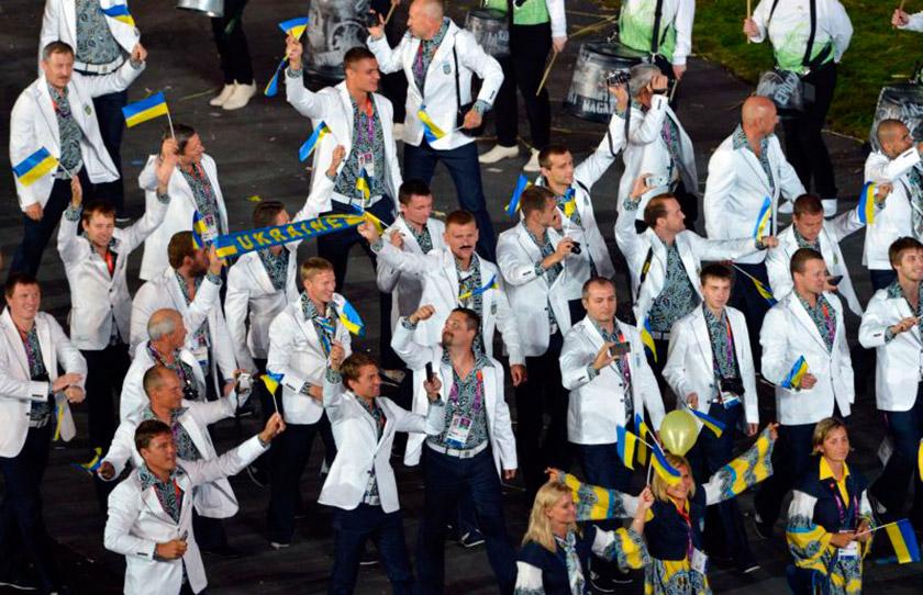 Українська команда на відкритті Ігор у Лондоні