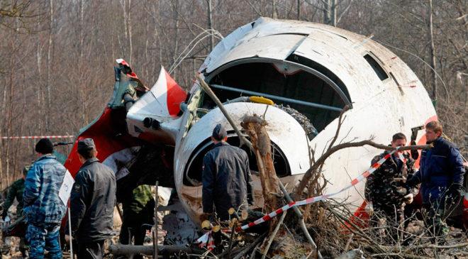 На місці авіакатастрофи під Смоленськом