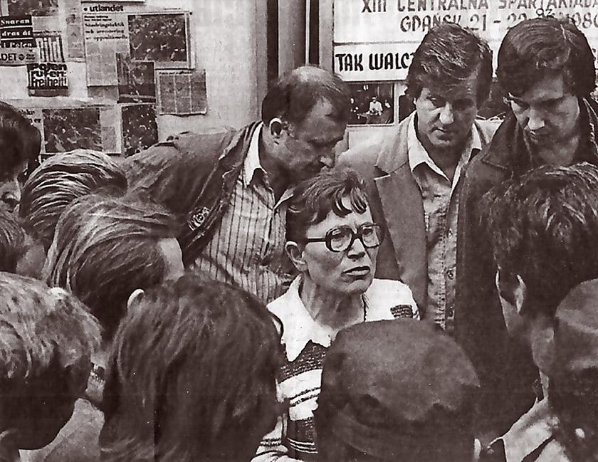 Під час страйку 1980 року Анна Валентинович стала серцем і совістю робітничого спротиву