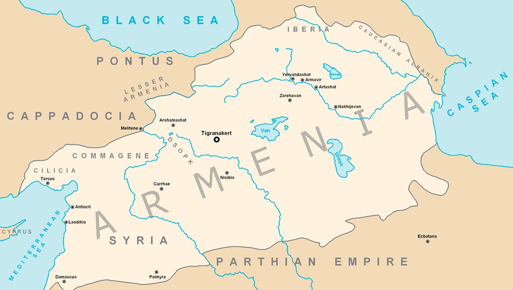 Мапа Великої Вірменії