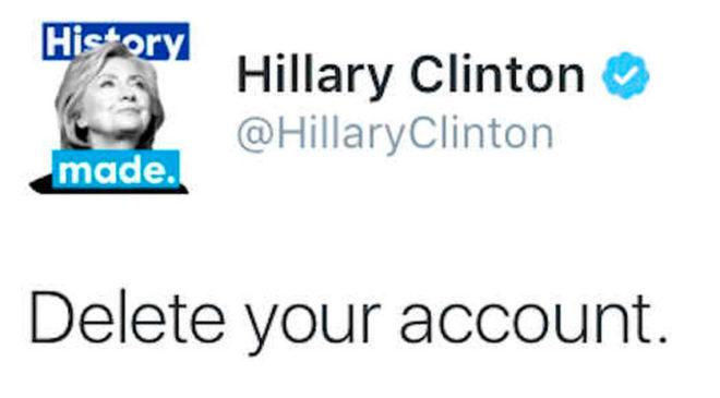 Знаменитий запис у Твіттері Гілларі Клінтон