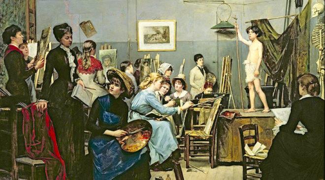 Башкірцева М. В Академії Жульєна в Парижі