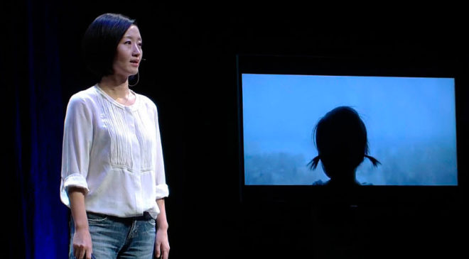 Хай Їнґ під час презентації