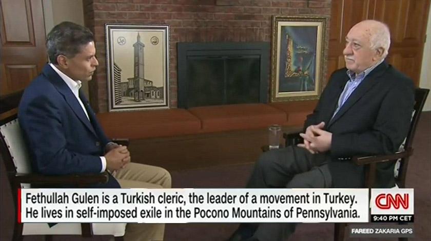 Фетхуллах Ґюлен в гостях у Фаріда Захарії (CNN)