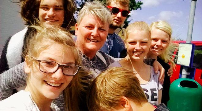 Щаслива данська сім'я Фіна та Ванди Сьогордів