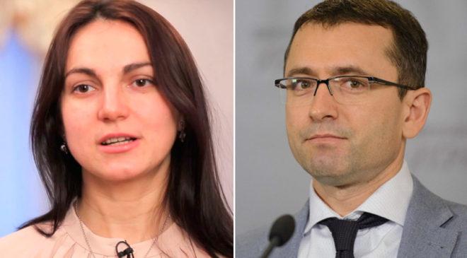 Народні депутати України Ганна Гопко та Віктор Романюк