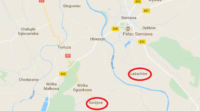 Українські села в Польщі, згадані в розповідях сестер