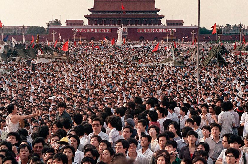 На площі Тяньаньмень мітинги були наймасовішими