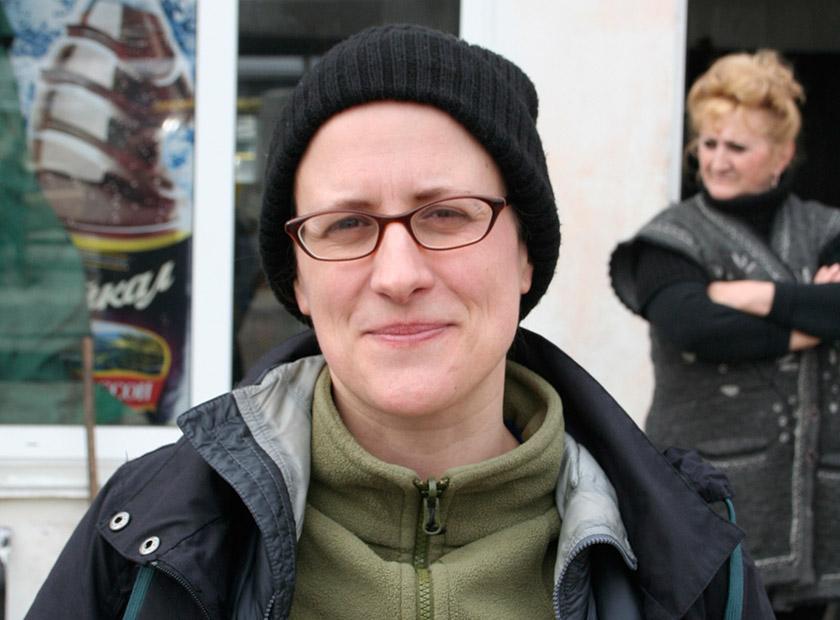 Ютта Зоммербауер під час відрядження до Криму
