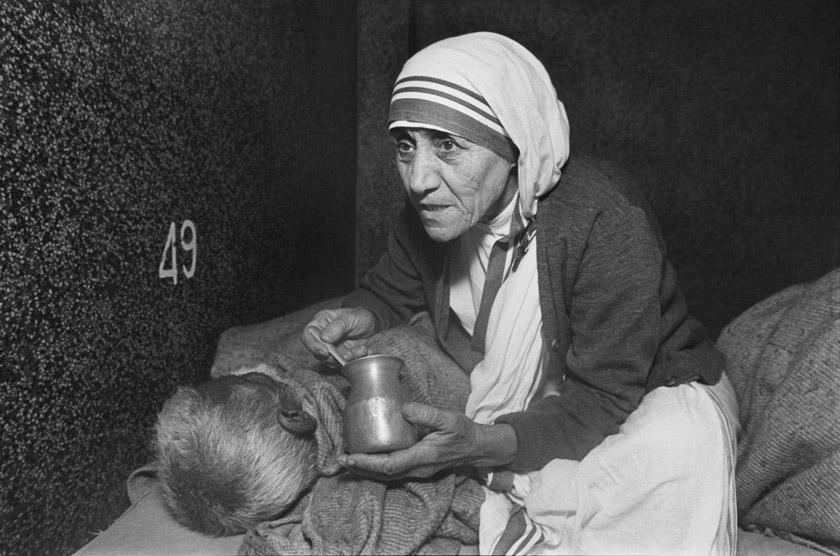 Мати Тереза в будинку для вмираючих
