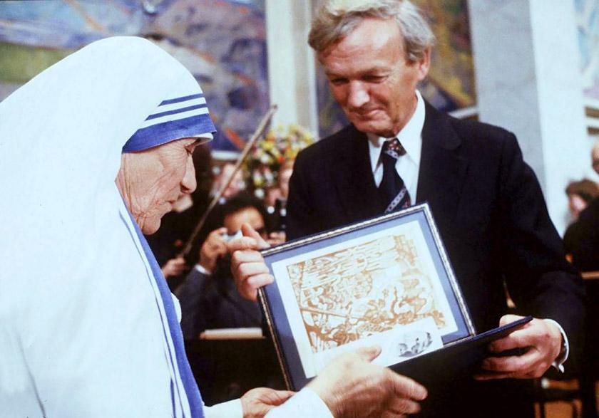 У 1979 році Матір Тереза отримала Нобелівську премію миру