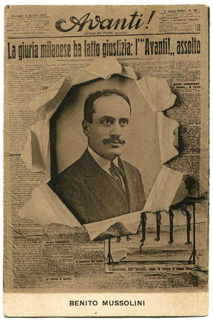 Муссоліні – редактор соціалістичної газети «Avant!»