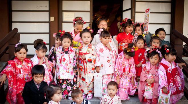Діти на святі Shichi-Go-San