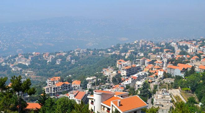 Бейрут вигляд з вікна приватного будинку