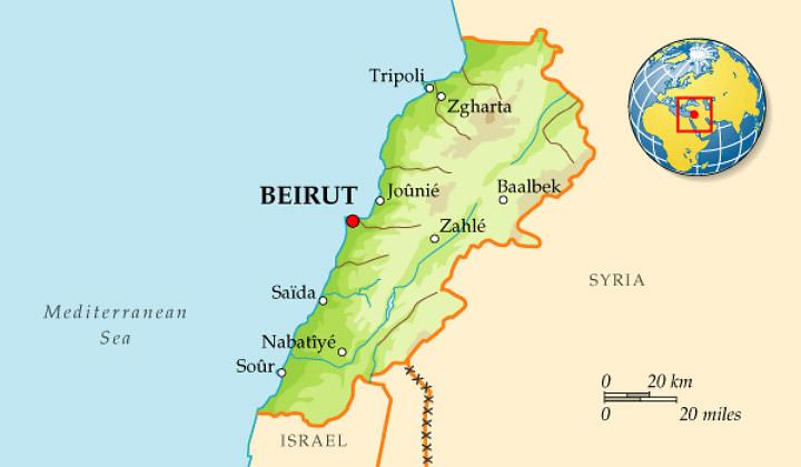 Ліван – невеличка країна на східному узбережжі Середземного моря