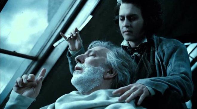 Кадр із фільму «Свіні Тодд: перукар-демон із Фліт-стріт»