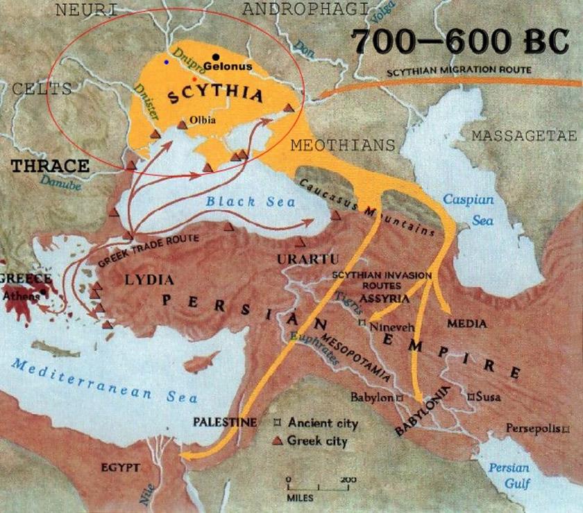 Велика Скіфія та військові походи скіфів за Кавказом