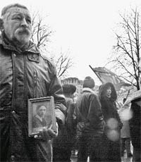 Ігор Ткаченко з портретом Григорія Піпського