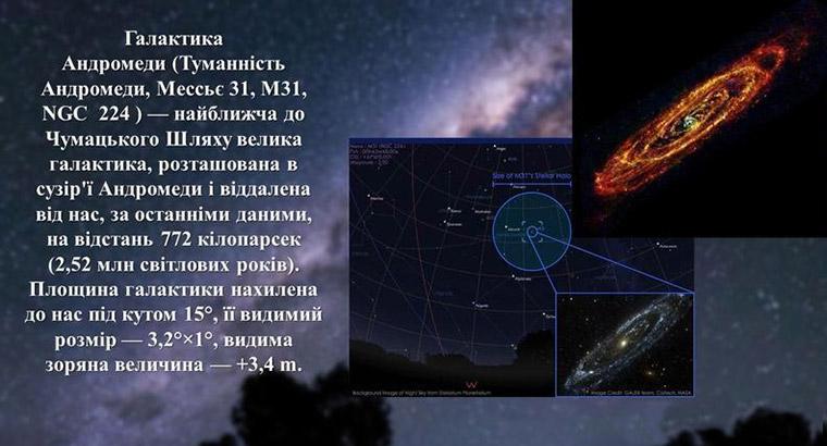 Галактика Андромеди в інфрачервоних променях