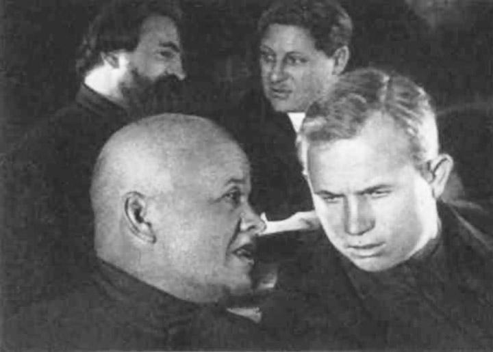 Станіслав Косіор і Микита Хрущов