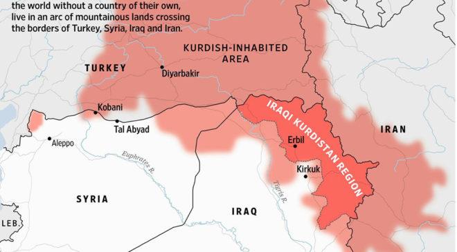 МАпа розселення курдів
