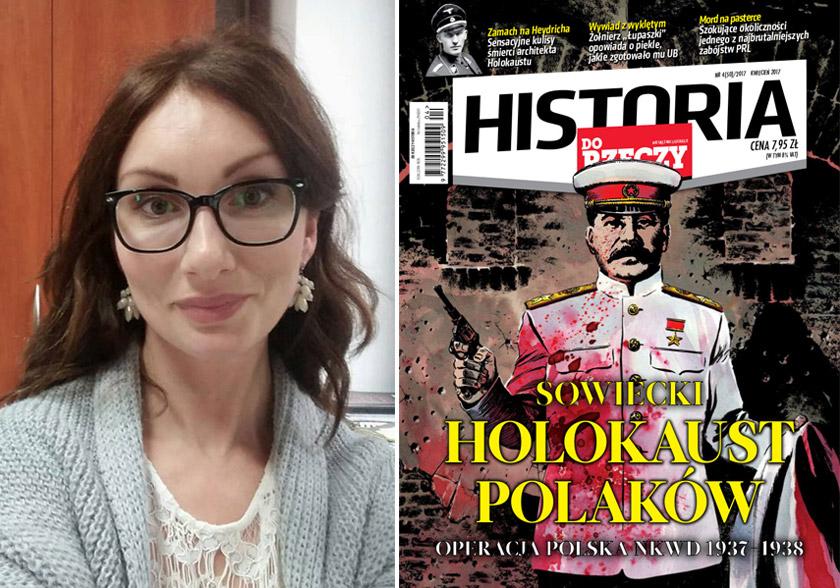 Магдалена Семчишин та обкладинка журналу «Do rzeczy»