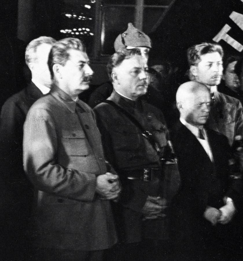 Йосип Сталін, Клим Ворошилов, Станіслав Косіор, Павло Постишев