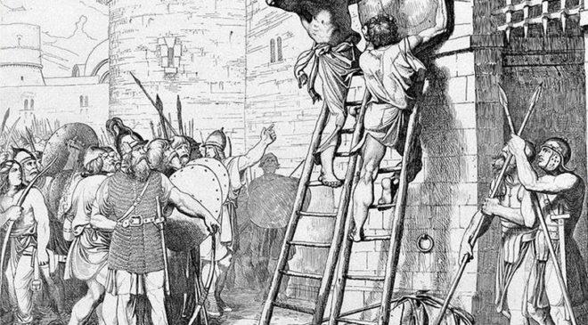 Князь Олег прибиває свій щит до воріт Царгорода