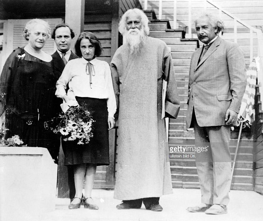 Рабіндранат Тагор відвідує Альберта Айнштайна
