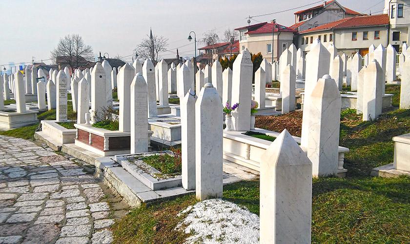 Мусульманське кладовище у центрі Сараєво