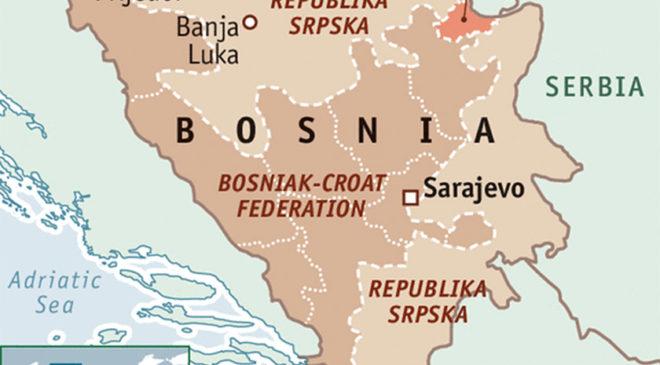 Адміністративна карта Боснії і Герцоговини