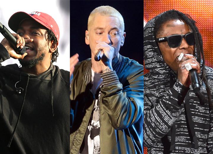 Kendrick Lamar, Eminem, Dr. Dre.