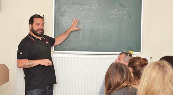 Інґо Петц на факультеті журналістики