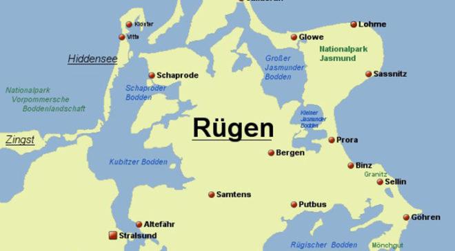 Карта острова Рюген