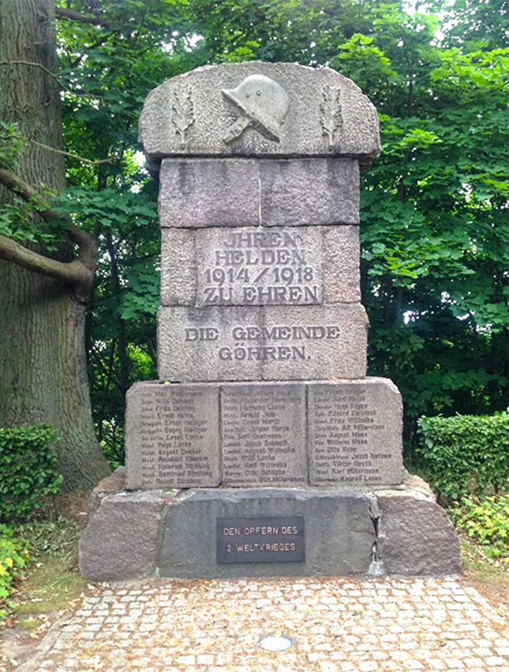 Пам'ятник загиблим у Першій світовій війні та Другій світовій війні в м. Гьорен