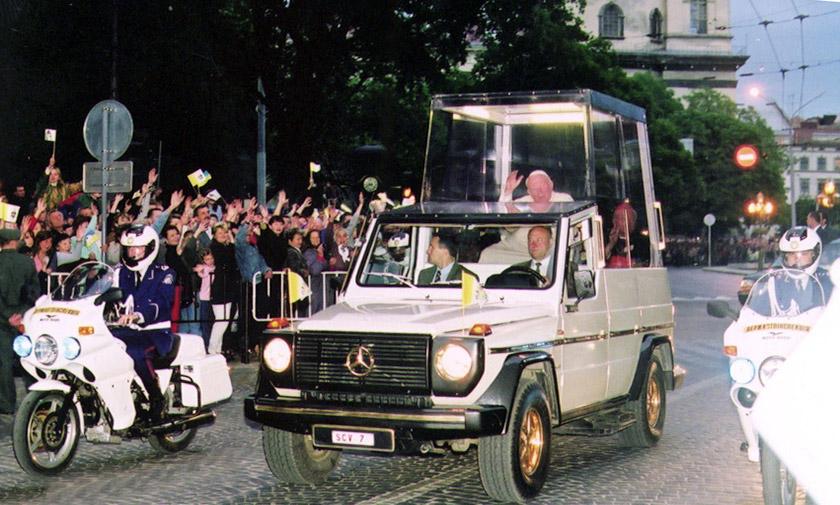 Івана Павла ІІ вітають гостинні львів'яни