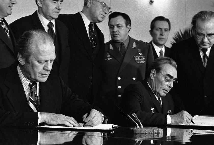 Президент США Джарльд Форд і Генеральний секретар ЦК КПРС Леонід Брежнєв