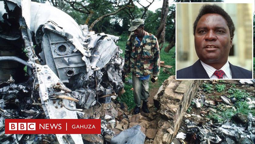 На місці падіння літака президента Руанди