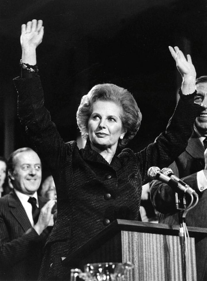 Маргарет Тетчер на конференції Консервативної партії