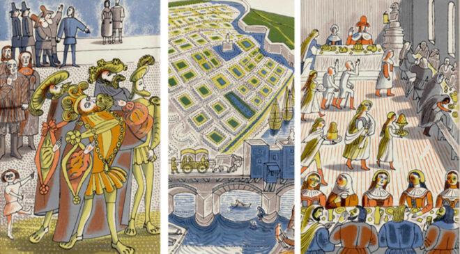 Автентичні ілюстрації до роману «Утопія» Томаса Мора. Автор – Едвард Боуден. (вид. The Folio Society, 1965)