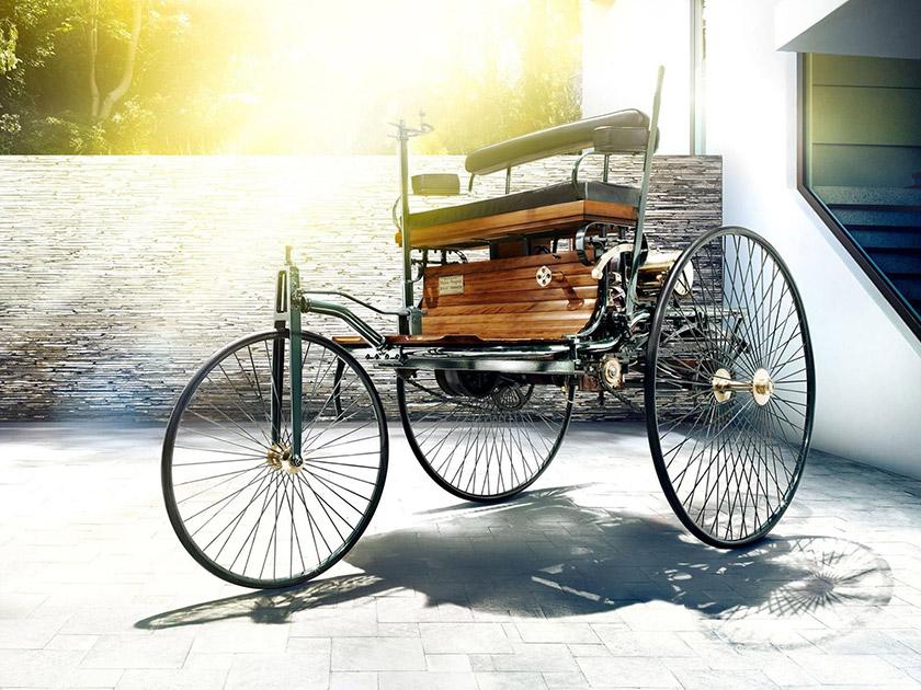 Benz Patent-Motorwagen, на якому Берта Бенц із синами вирушила в першу подорож