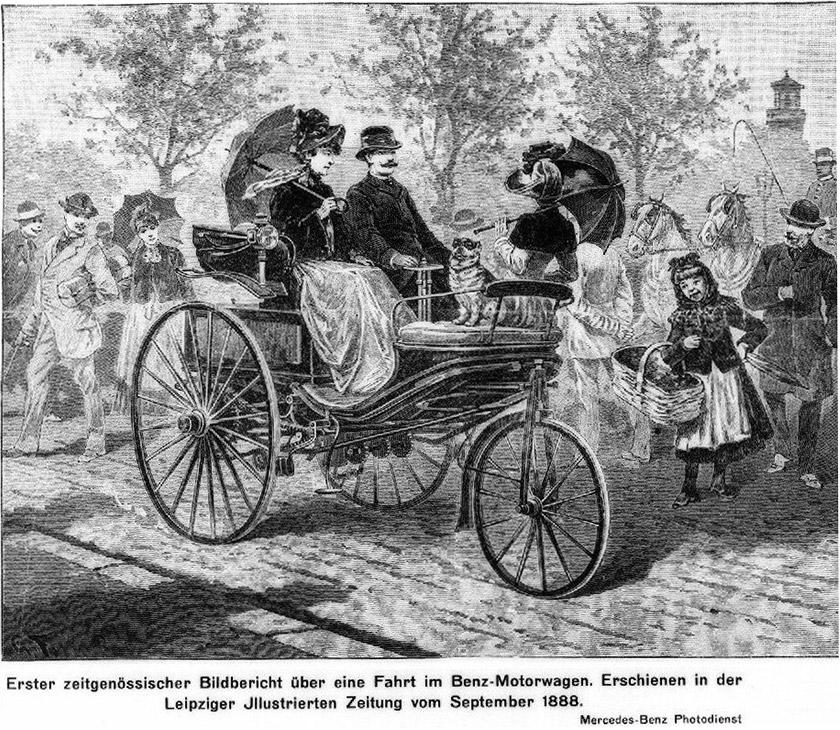 Перший фотозвіт про поїздку на автомобілі Benz.