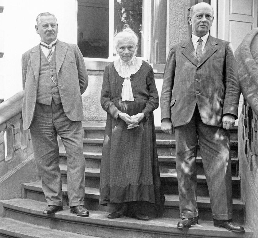 Берта Бенц із синами Ріхардом та Ойгеном