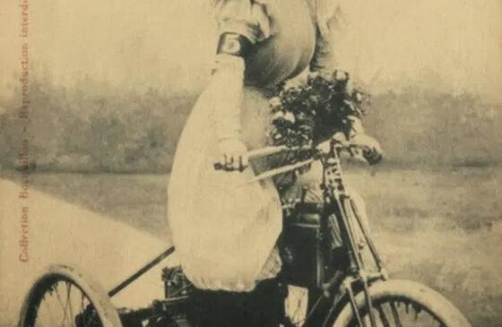 Еллен Жуані на трициклі De Dion
